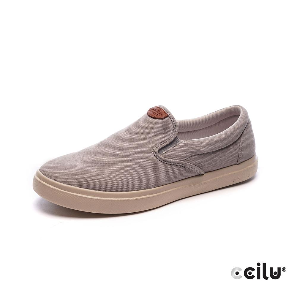 CCILU再生咖啡渣超輕量休閒鞋-男款-301353213特調灰