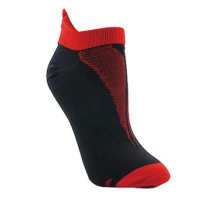【ZEPRO】男子透氣慢跑踝襪-熱情紅