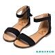 Robinlo夏日輕漾一字繫踝後拉鍊涼鞋 黑色 product thumbnail 1