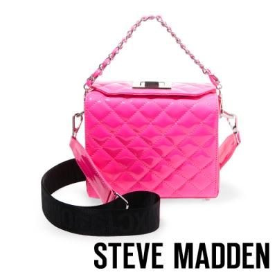 STEVE MADDEN-BCHRISSY 超亮點菱格手提斜背兩用包-粉色