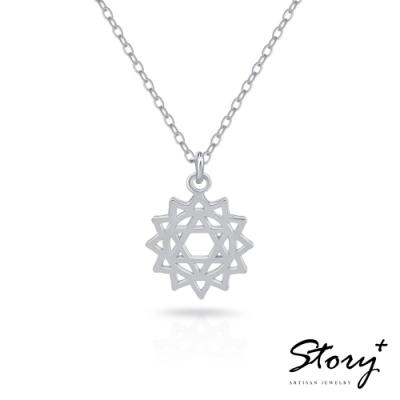 STORY故事銀飾-脈輪系列-心輪Heart Chakra 純銀鎖骨鍊