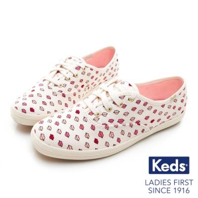 Keds x Kate Spade 聯名款 CHAMPION 嘴唇休閒鞋-白