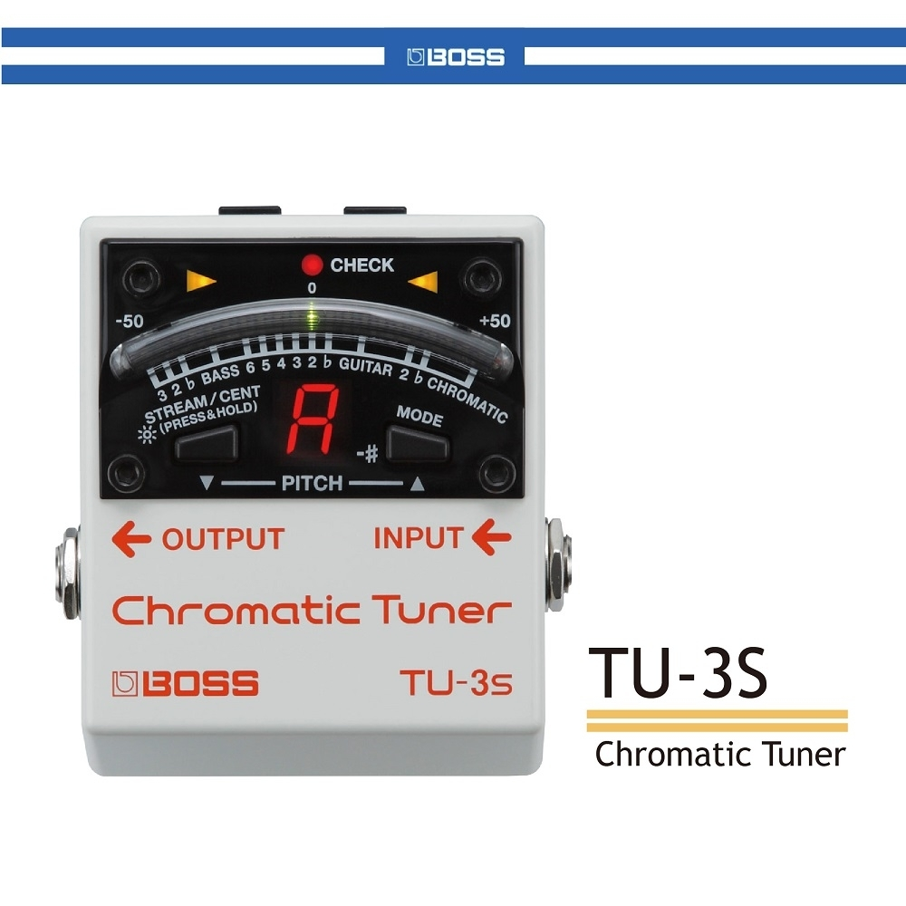 BOSS TU-3S 半音階調音器/贈導線/公司貨保固