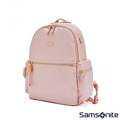 Samsonite新秀麗 KARISSA 簡約時尚輕量後背包14(玫瑰粉)