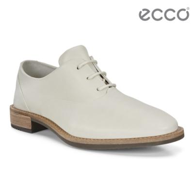 ECCO SARTORELLE 25 TAILORED 英倫風細緻牛津皮鞋 女鞋-米白