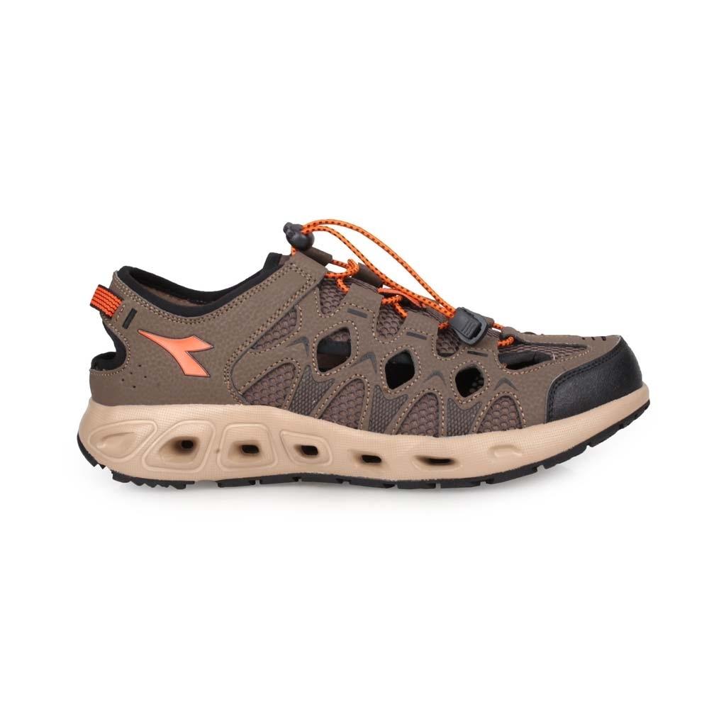 DIADORA 男涉水護趾涼鞋-拖鞋 休閒涼鞋 海邊 海灘 戲水 DA9AMO7353 咖啡橘