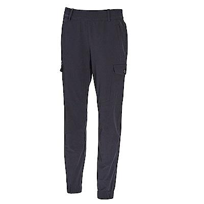 荒野【wildland】女彈性貼袋束口休閒褲身灰色