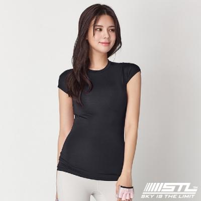 STL Essence Stretch Volume 韓國無肩線短袖機能素色上衣 本質伸展黑