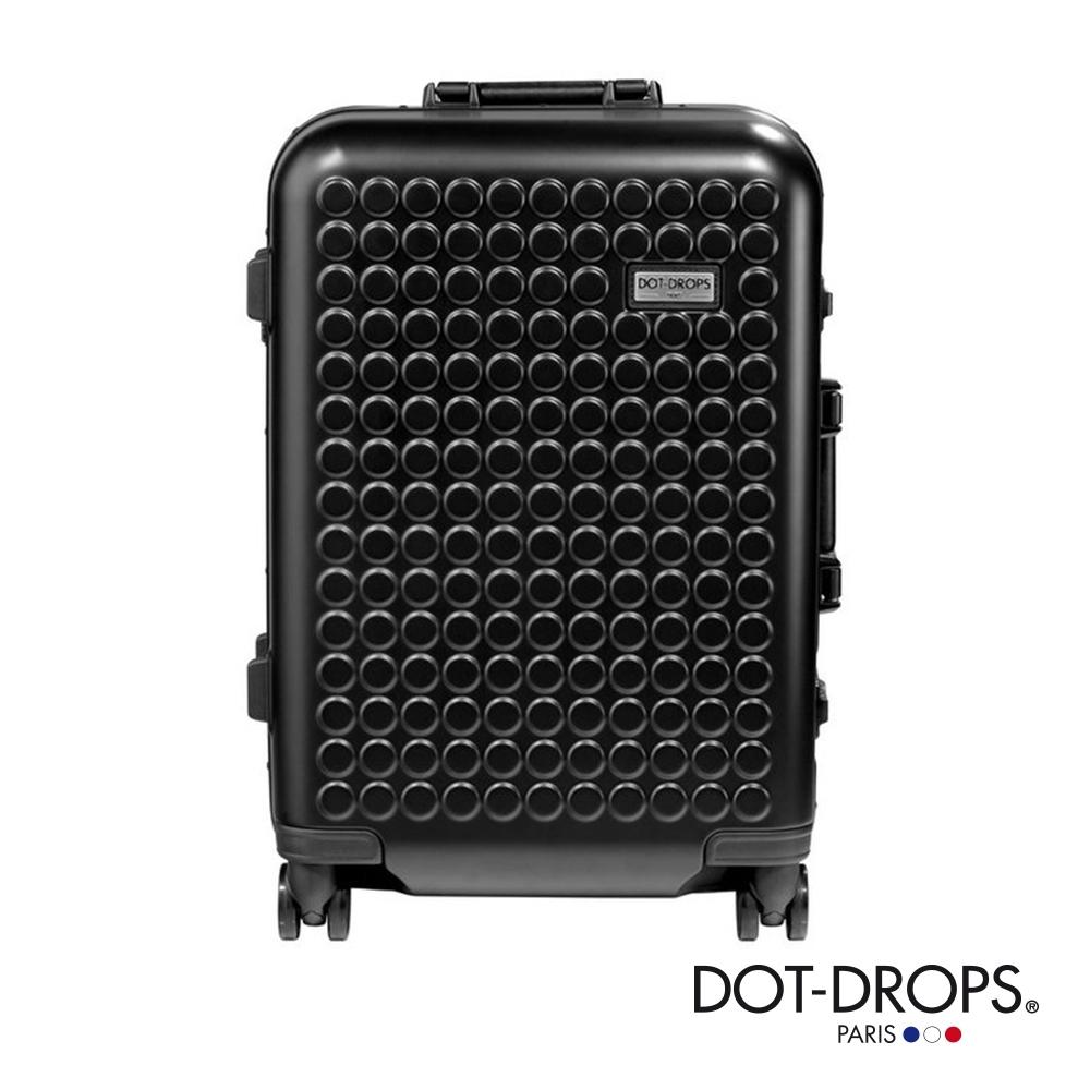 DOT-DROPS 20 吋 Chapter 4 時尚點點鋁框硬殼行李箱 - 幻影黑