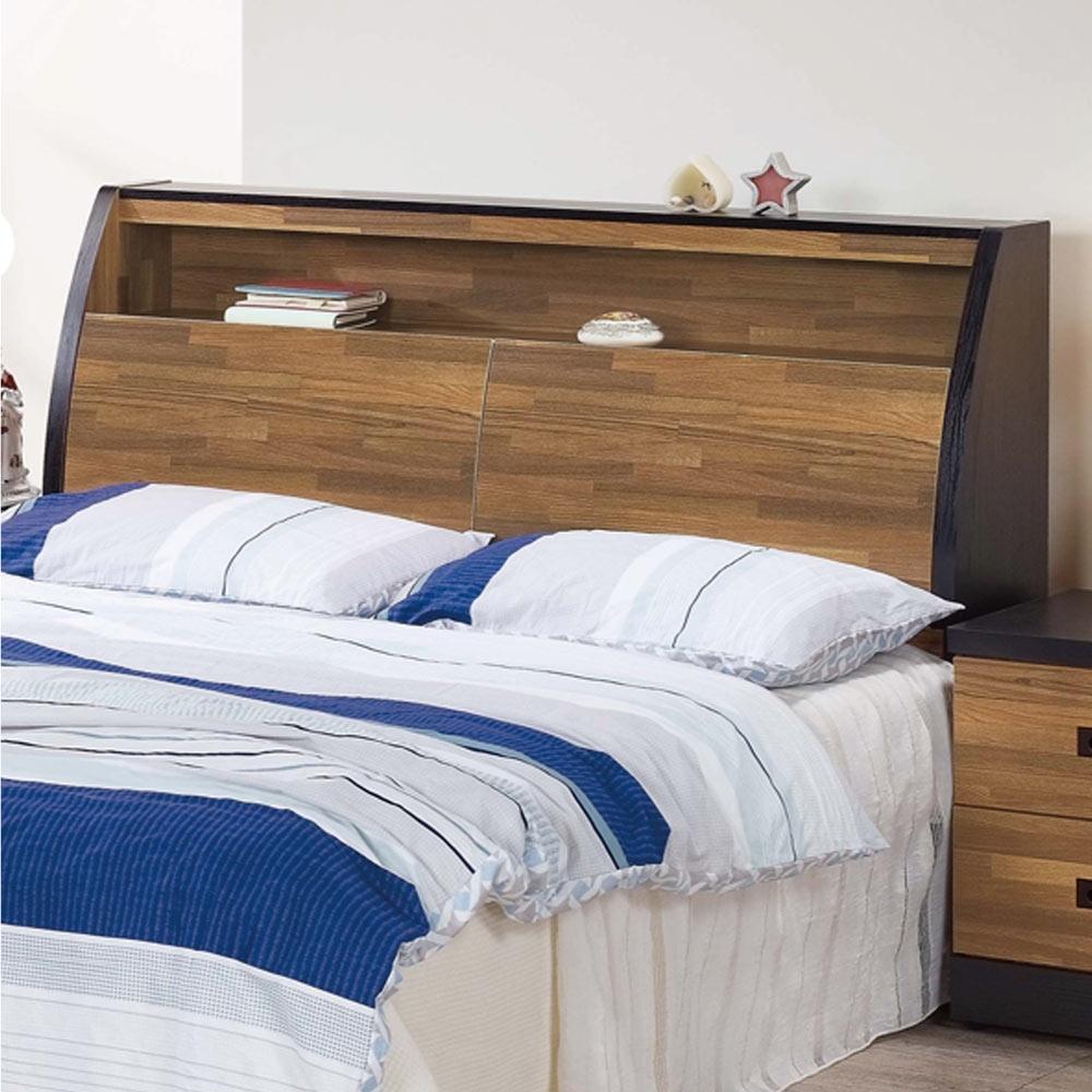 文創集 麥波時尚6尺木紋雙人加大床頭箱(不含床底)-152x9x114cm免組