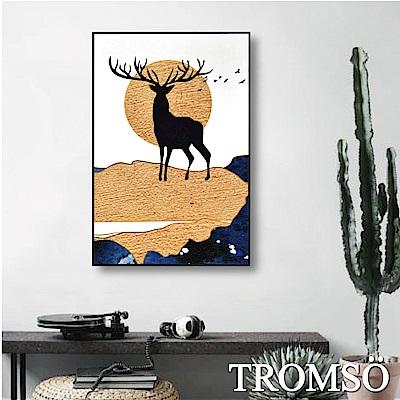 TROMSO 北歐風尚板畫有框畫-絕美大鹿WA87