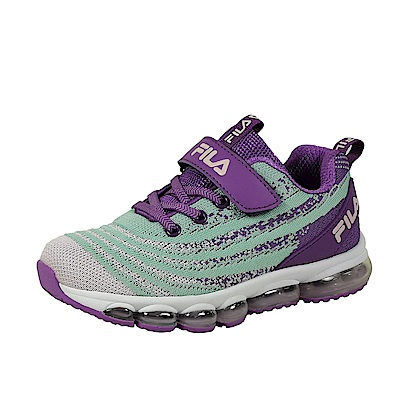 FILA 氣墊慢跑鞋 紫 大童(6~12歲) 3-J813T-939