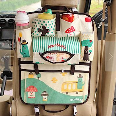 威力鯨車神 韓國高質感汽車椅背置物袋/汽車收納袋/椅背掛袋/手提袋/升級版