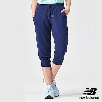 New Balance粉彩針織束口七分褲AWP91572PGM_女深藍