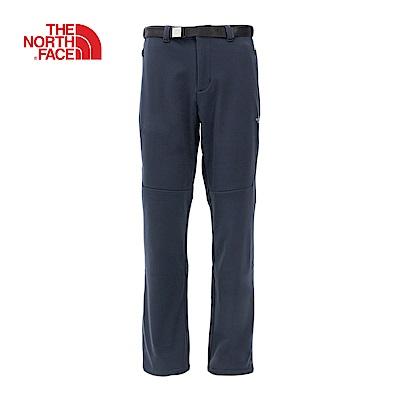 The North Face北面男款海軍藍透氣防潑水休閒長褲|3L92H2G