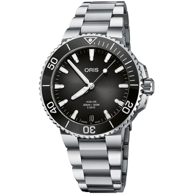 Oris豪利時 Aquis Calibre 400 五日鍊日期潛水錶 0140077694154-0782209PEB-41.5mm