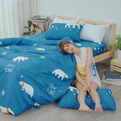 BUHO 乾爽專利機能雙人三件式床包枕套組(溫室光所)