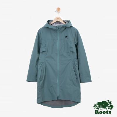 女裝Roots Journey 雨衣大衣-綠色