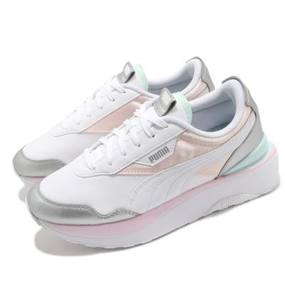 Puma 休閒鞋 Cruise Rider Chrome 女鞋 厚底 增高 流行 穿搭 粉嫩色系 白 粉 38050003