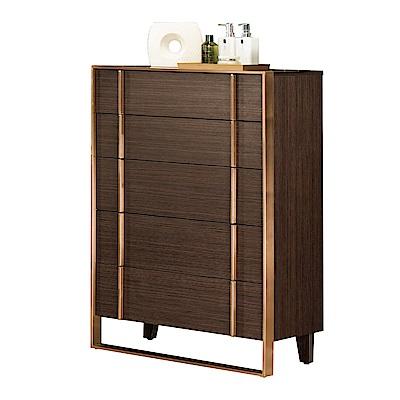 文創集 希亞德時尚2.5尺雙色五斗櫃/收納櫃-109x42x75.5cm免組
