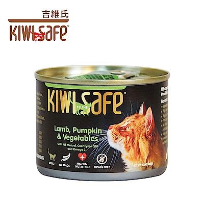 時時樂 吉維氏 KIWI SAFE 天然無榖主食貓罐 -185g/罐-多口味