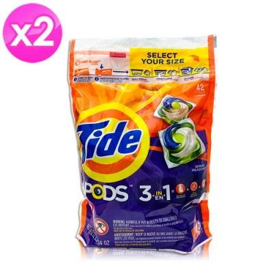 美國Tide 洗衣膠囊-春天草地清香-42顆-2入組