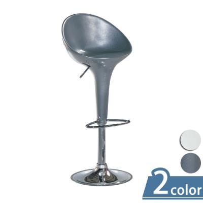 柏蒂家居-維娜升降高背吧台椅/高腳椅/設計師椅-單椅(二色可選)-46x40x130cm