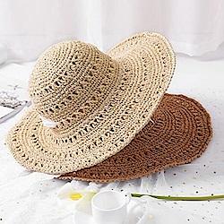 米蘭精品 草帽防曬遮陽帽-戶外時尚優雅可折疊女帽子母親節禮物73rp29