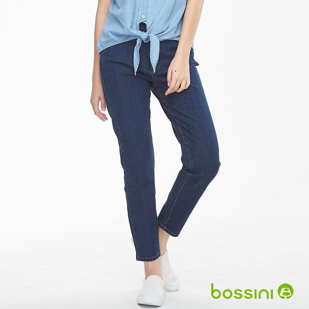 bossini女裝-四向彈性牛仔褲淡藍