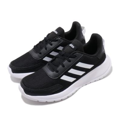 adidas 慢跑鞋 Tensaur Run K 女鞋 愛迪達 三線 路跑 運動休閒 緩震 中大童 黑白 EG4128