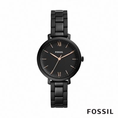 FOSSIL JACQUELINE 迷霧典雅鍊帶女錶-黑色 36MM ES4511