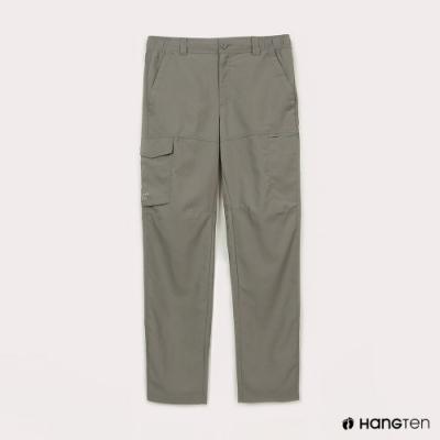 Hang Ten-男裝-恆溫多功能-REGULAR FIT標準提織吸濕快乾抗曬多口袋運動長褲-灰色