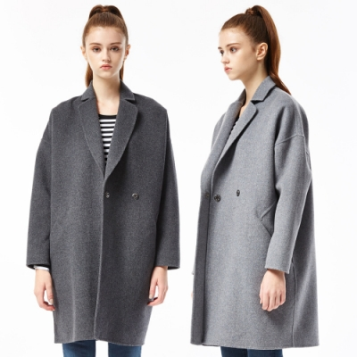 [時時樂限定]BRAPPERS 女款 毛料大衣(兩色選)
