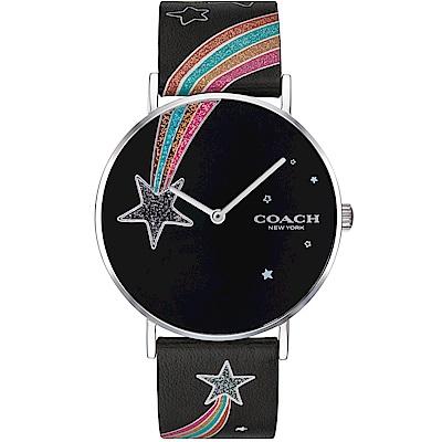COACH Perry 璀璨彩虹流星設計女錶(14503039)-黑/36mm