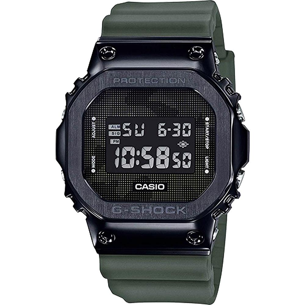 CASIO 卡西歐 G-SHOCK 超人氣軍事迷彩手錶-軍綠(GM-5600B-3)