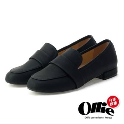 Aviator韓國空運-圓頭漆皮皮革樂福包鞋-ollie預購