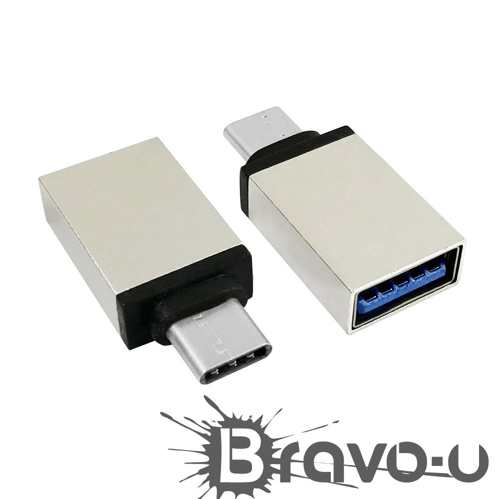 USB 3.1Type-C(公)轉USB 3.0(母)OTG鋁合金轉接頭(2入組) product image 1