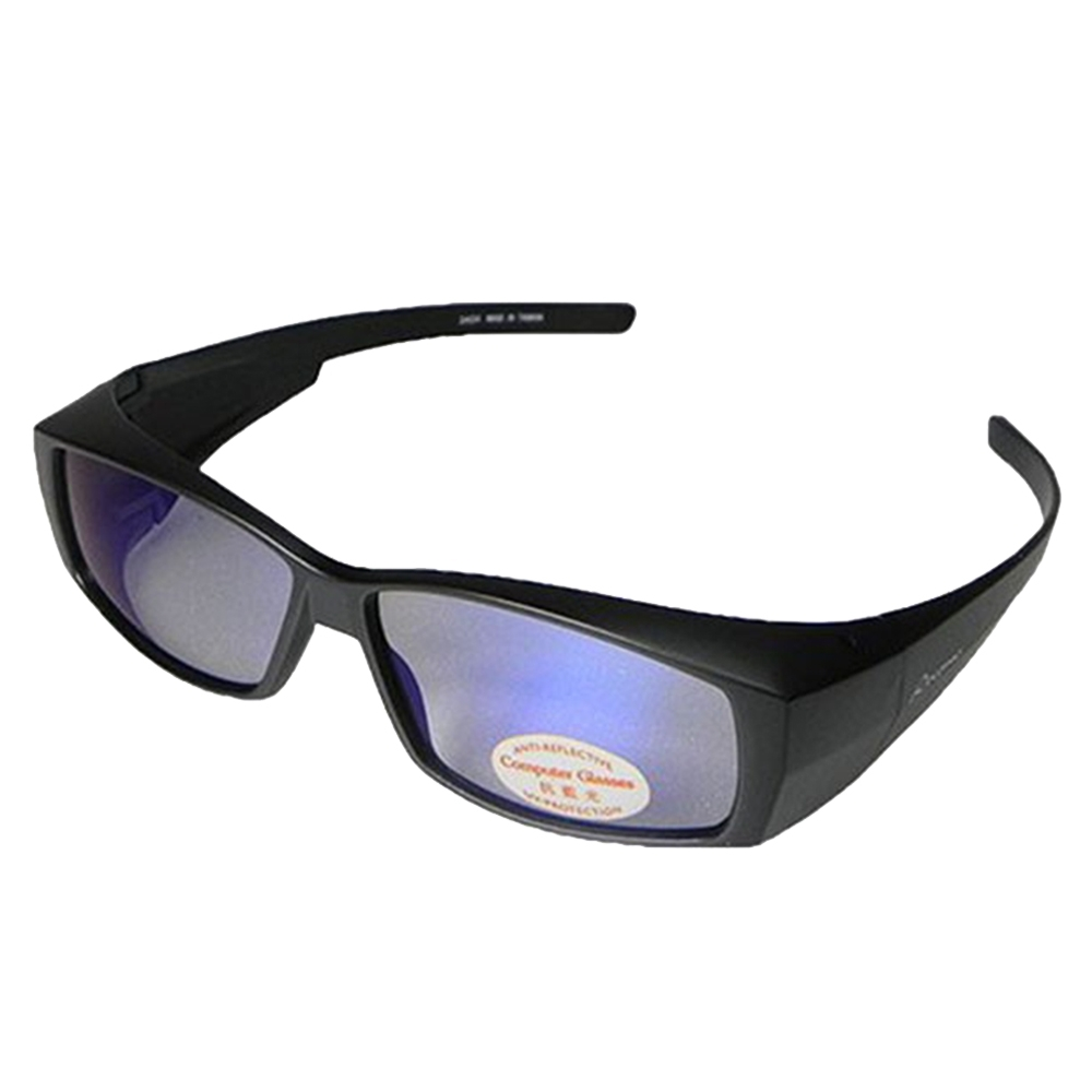 【Docomo】包覆式抗藍光套鏡 偏光抗藍光材質 3C族群必備(抗藍光+UV 雙抗設計)