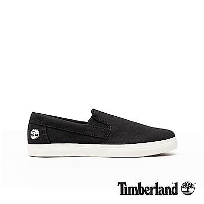 Timberland 男款黑色帆布休閒便鞋|A1XAG