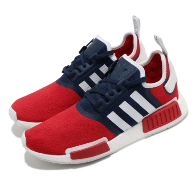 adidas 休閒鞋 NMD R1 襪套式 男鞋 海外限定 Boost底 緩震 穿搭 紅 藍 FV1734