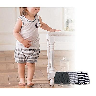 日本Akasugu-日製毛巾布小短褲-條紋