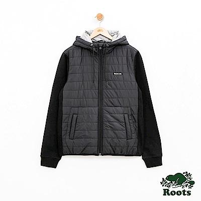 Roots 男裝-ROOTS 海斯混合外套-黑