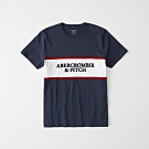 AF a&f Abercrombie & Fitch 短袖 T恤 藍色 1210