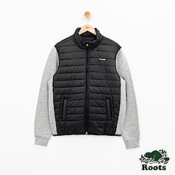 男裝Roots 複合材質夾克外套-黑