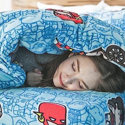 戀家小舖 / 雙人加大床包兩用毯組  正義曙光  頂級搖粒絨  台灣製
