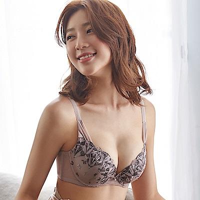 蕾黛絲-扇扇心真水 D罩杯內衣(香草可可)