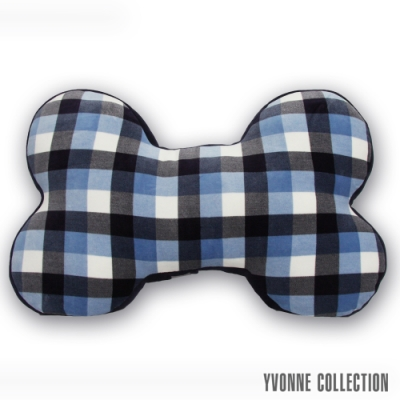 Yvonne Collection 藍格紋大骨頭抱枕