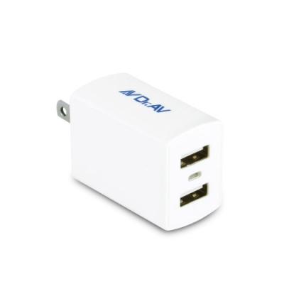 【Dr.AV】2.4急速智能USB充電器USB-245i(2入組)