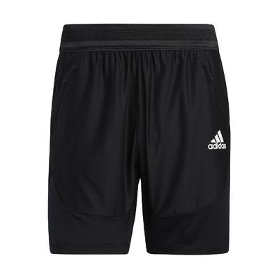 adidas 短褲 Training Shorts 運動 男款 愛迪達 膝上 健身 重訓 鬆緊帶褲頭 黑 白 GL1677