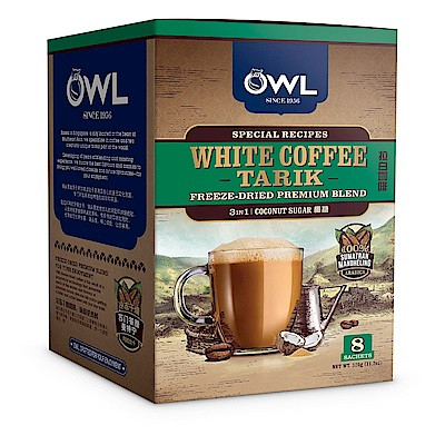 OWL貓頭鷹椰糖白咖啡(40gx8入)